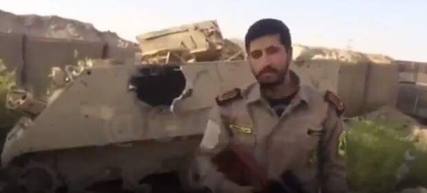 На видео попал уничтоженный в Сирии американский бронетранспортер M113