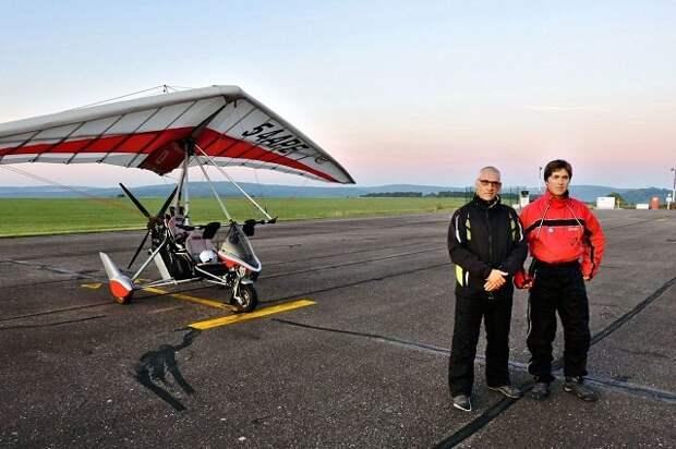 Отец и сын установили новый мировой рекорд дальности полета на мотодельтаплане