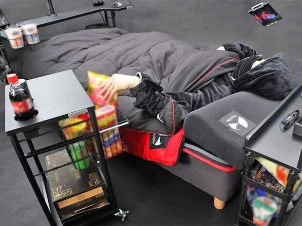 Как выглядит идеальная кровать для истинных геймеров отяпонской компании