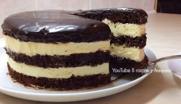 Торт без весов или стаканчиковый торт, с очень вкусным кремом
