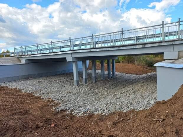 Ремонт моста через реку Котовка завершили в Каракулинском районе