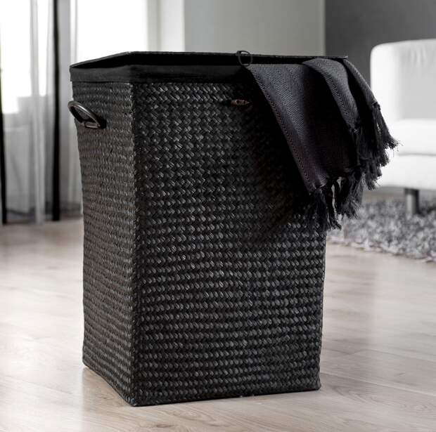 Корзины для белья в ванную комнату: разновидности (55 фото)