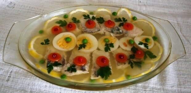 Заливное из рыбы с желатином