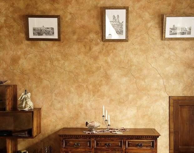 Отделка стен декоративной штукатуркой фото 3
