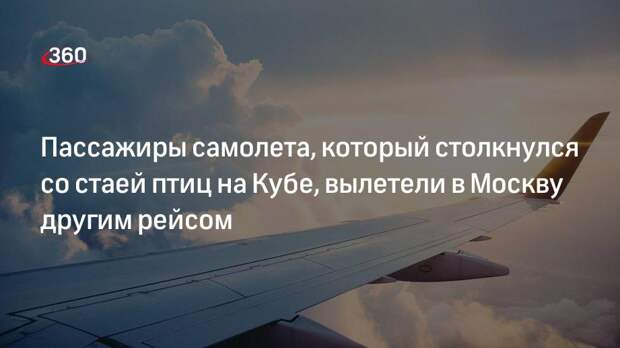 Пассажиры самолета, который столкнулся со стаей птиц на Кубе, вылетели в Москву другим рейсом