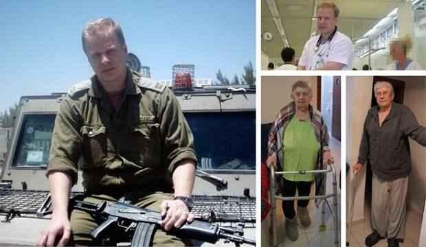 Андрей Жигалин во время службы в армии и на работе; родители доктора. Фото: семейный архив
