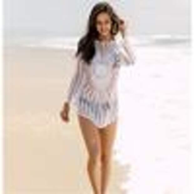 Пляжный вариант! Летние туники-накидки крючком