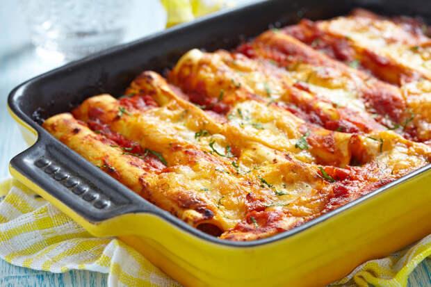 Каннеллони с фаршем – вкусное итальянское блюдо