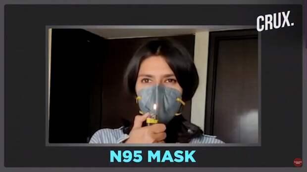 Видео: Насколько хорошо защитные маски пропускают воздух, не лучше ли носить сразу две