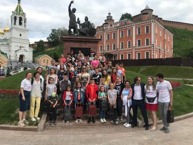 Фото дня: семьи из Донбасса приехали на экскурсию в Нижний Новгород