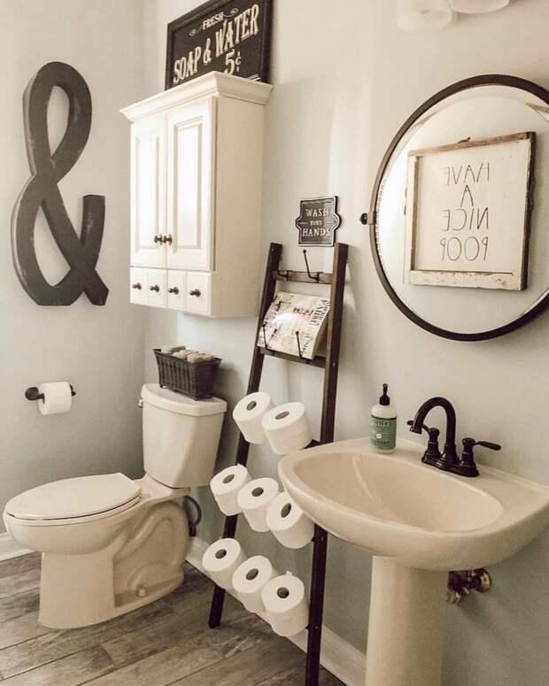 Оригинальное хранение туалетной бумаги