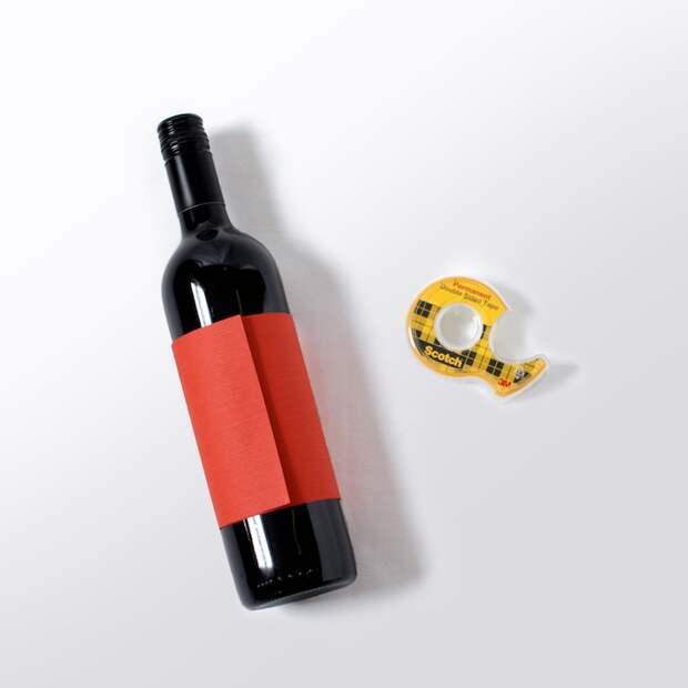 Праздничная упаковка бутылок от Scotch (diy)