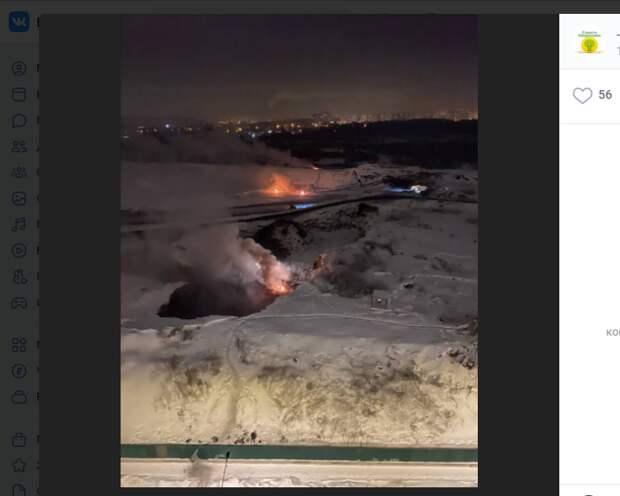 Хулиганы поджигали провода на улице в 14-м квартале