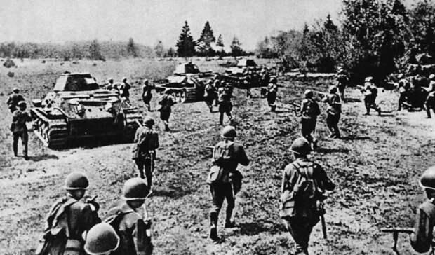 Советские войска в наступлении