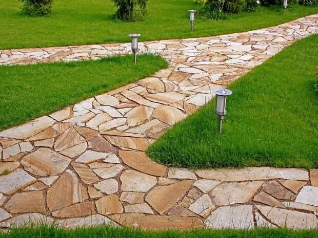 Дорожки в саду из тротуарной плитки: фото, разновидности, правила укладки (29 фото)