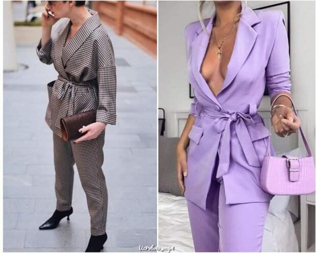 Модные женские костюмы сезона весна-лето 2021