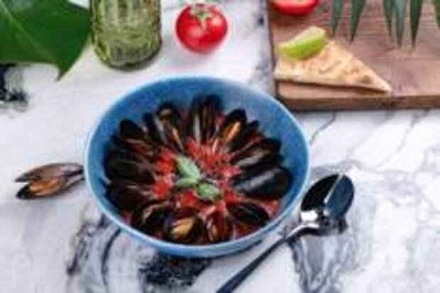 Гастропутешествие в лето - Суп томатный с мидиями