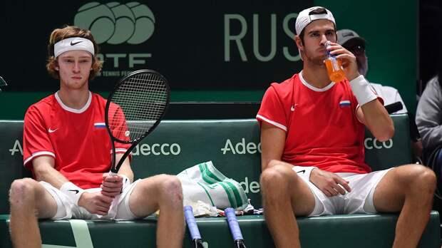 Хачанов и Рублев снялись с турнира в Риме в парном разряде