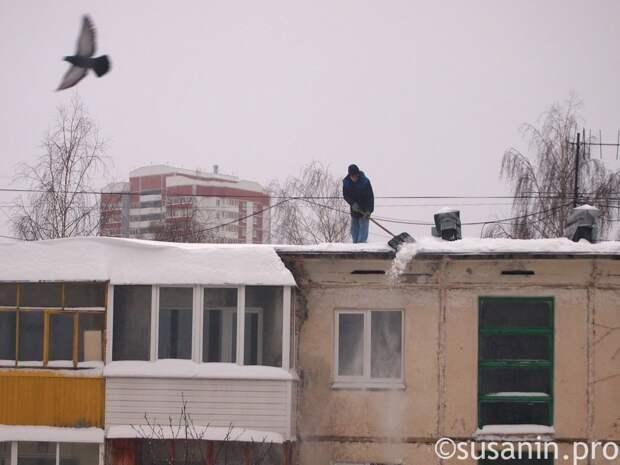 В Ижевске предложили штрафовать автомобилистов, мешающих уборке снега с крыш домов