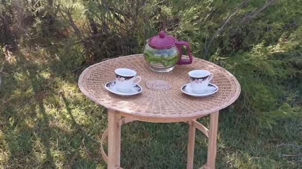 Удивительно красивая и полезная идея из сита и ручек от швабры