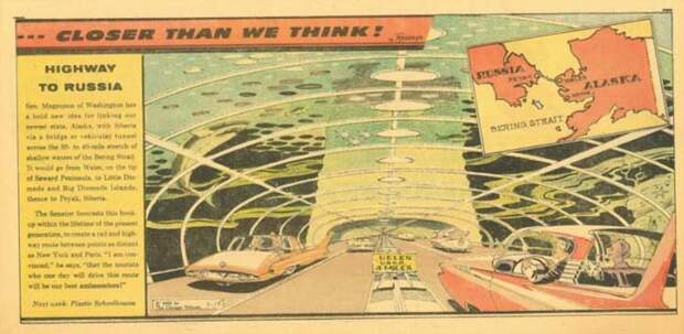 Туннель, соединяющий Россию и Аляску (комиксы Артура Радебо)