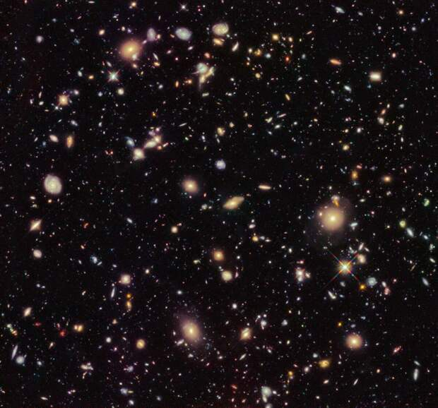 Углублённое поле Hubble. NASA/Hubble