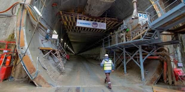 Собянин: Строительство ветки метро в район Северный идёт полным ходом. Фото: В. Новиков mos.ru