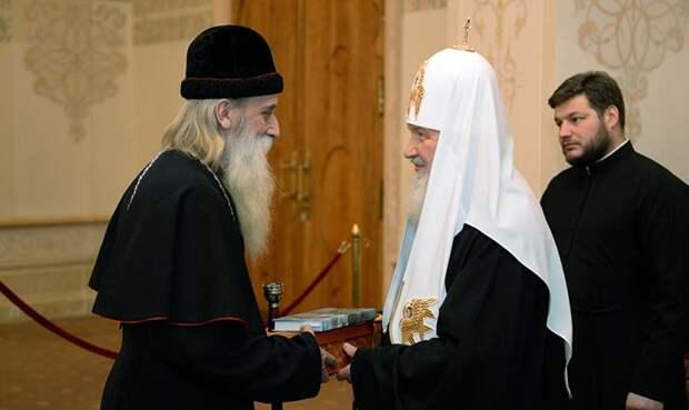 Встреча Патриарха Кирилла и митрополита Корнилия, главы РПСЦ