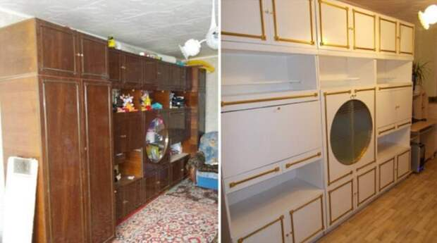 13. Советская стенка может выглядеть стильно было стало, красиво, новая жизнь старых вещей, реставраторы, советская мебель