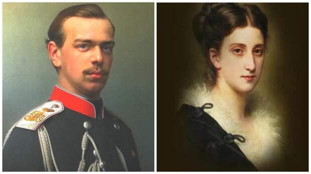 Великий князь Александр Александрович и княжна Мария Мещерская