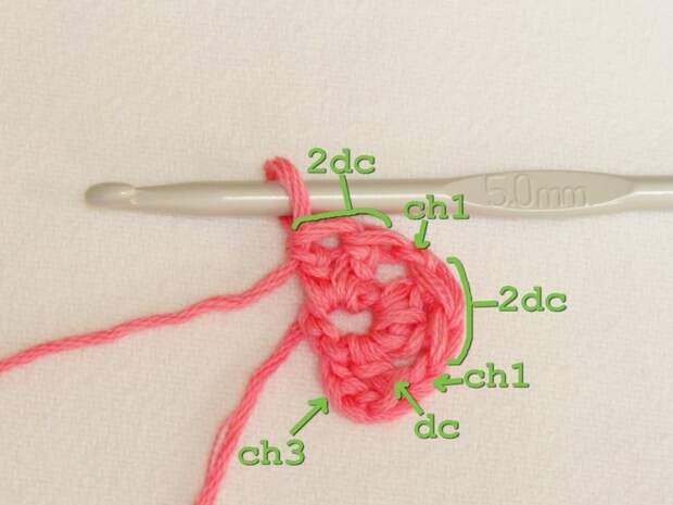 Цветочный фрагмент крючком АФРИКАНСКИЙ ЦВЕТОК для вязания игрушек (14) (700x525, 213Kb)