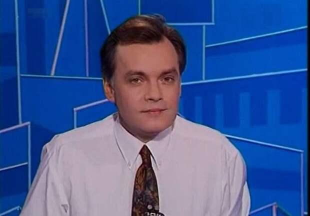 Дмитрий Киселёв сменил убитого Владислава Листьева на посту ведущего программы «Час Пик» на телеканале ОРТ. 1995 год.
