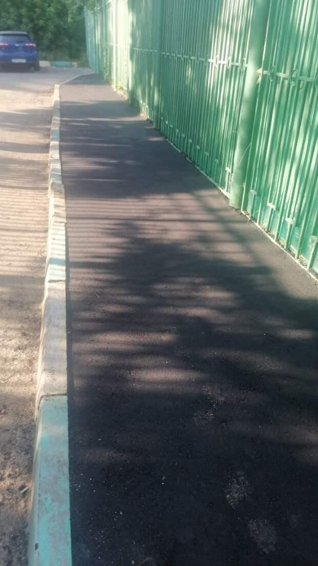 У детского сада на Малой Ботанической обустроили тротуар