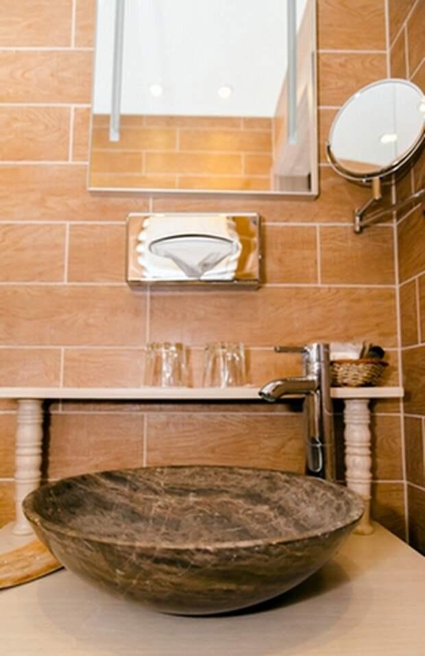 СтройРемПлан. Плитка под дерево в ванной