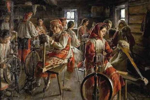 Русские традиции: прялка