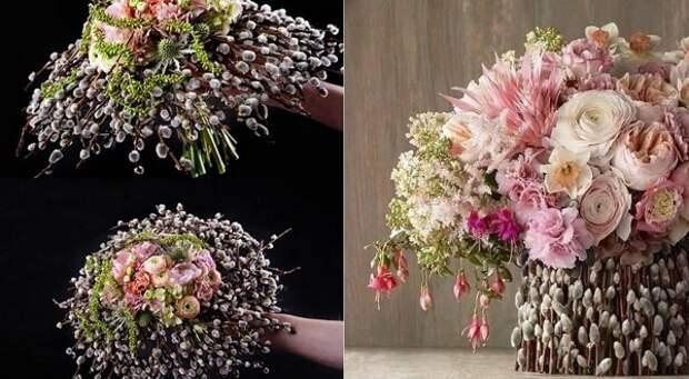 цветочные композиции в корзинах