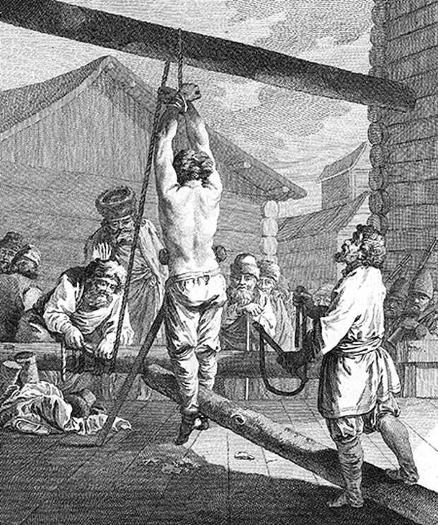 Наказание крепостного кнутом в Сибири. Источник: Библиотека конгресса США