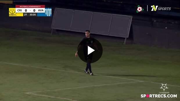 De pênalti, Diego Renan marca o gol da vitória do Avaí e decreta o primeiro rebaixamento da história do Criciúma - Campeonato Catarinense (21/04/2021)