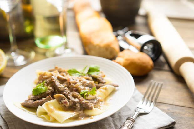 Бефстроганов, как приготовить говядину с грибами и сметанным соусом, пошаговый рецепт с фото, блог anfychef.ru