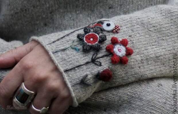 Вышивка на рукаве