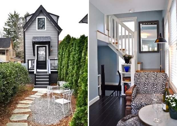 Крошечный трехэтажный коттедж Bird House площадью 37,3 кв. метра (Эшвилл, штат Северная Каролина).