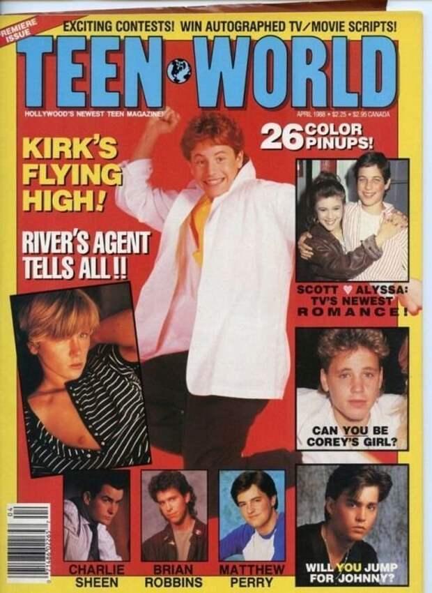 Журнал МИР ПОДРОСТКА - АПРЕЛЬ 1988 Голливуд., Лица с экрана, кинематограф