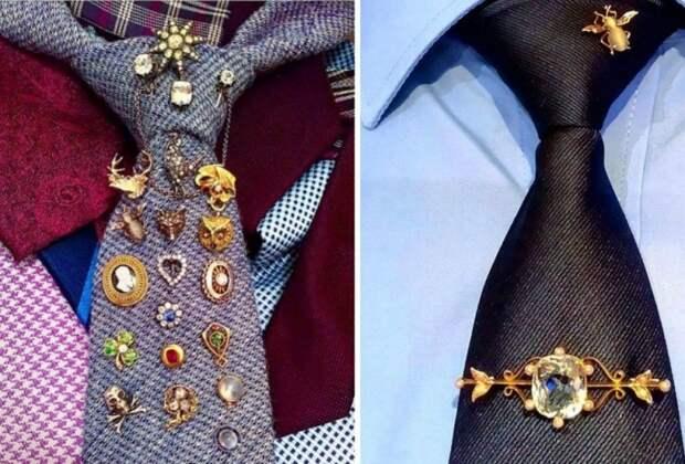 Как носить брошь (большая подборка)