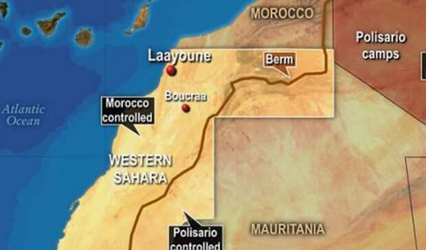 Западная Сахара Марокко и Испания Бывшая испанская колония Западной Сахары на северо-западе Африки находится в состоянии политической неопределенности. Испания вышла из области в 1976 году, чем тут же воспользовалось Марокко, аннексировавшее около 259,000 квадратных километров, довольно богатых природными ресурсами. Эту акцию не признали на международном уровне, что не мешает предприимчивым марокканцам продолжать добывать полезные ископаемые. Последнее столкновение случилось в 2010 году: несколько человек погибли в в результате ожесточенных боев между марокканскими силами безопасности и демонстрантами.