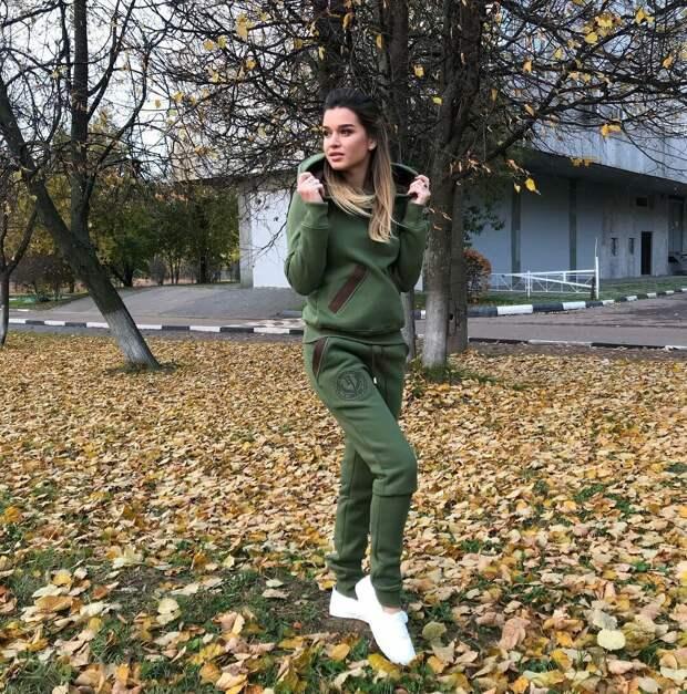 Ксения Бородина в спортивном костюме. /Фото: spintv.ru
