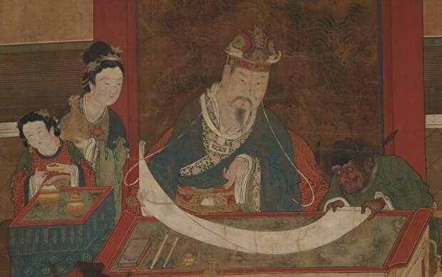 Один из «Десяти владык ада», династия Мин