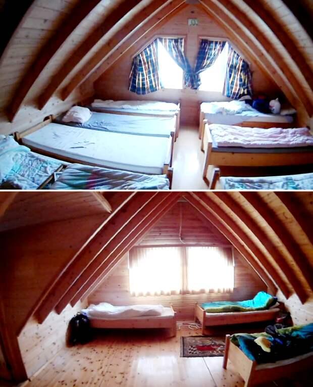 Для тех, кто планирует задержаться на длительное время, обустроено 2 общих спальни (о. Эдлидаэй, Исландия).   Фото: youtube.com/ © Bjarni Sigurdsson.