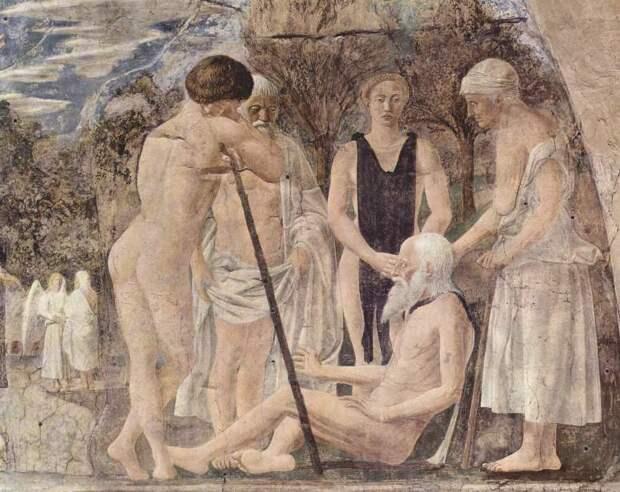 Piero della Francesca. Смерть Адама