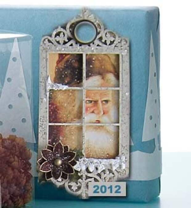 Старая открытка для  декора подарочной упаковки
