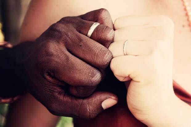 Пара, Брак, Межрасовый, Обручальные Кольца, Кольца
